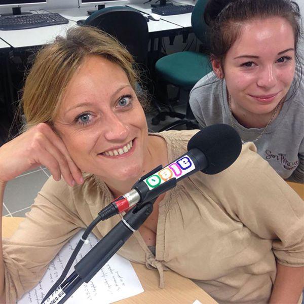 Madeleine ROEDIGER au micro de Radio Aléo